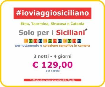 #ioviaggiosiciliano, l'offerta riservata ai Siciliani